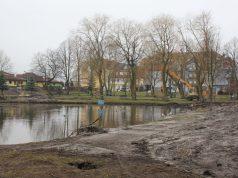 Park Kaczyńskich w Lęborku - ulica Grunwaldzka