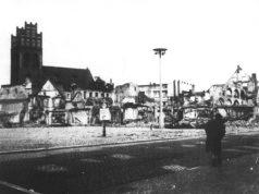 Rynek w centrum Lęborka – rok 1945.