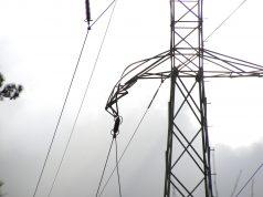Zerwanie linie energetyczne