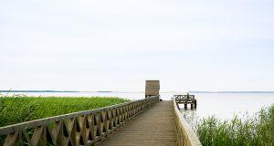 Słowiński Park Narodowy - przystań w Klukach na jeziorze Łebsko