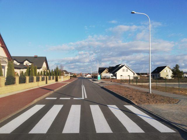 Przebudowana ulica Bałtycka w Nowej Wsi Lęborskiej